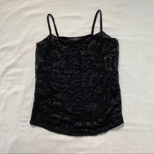 3/20$ Suzy Shier black lace camisole top